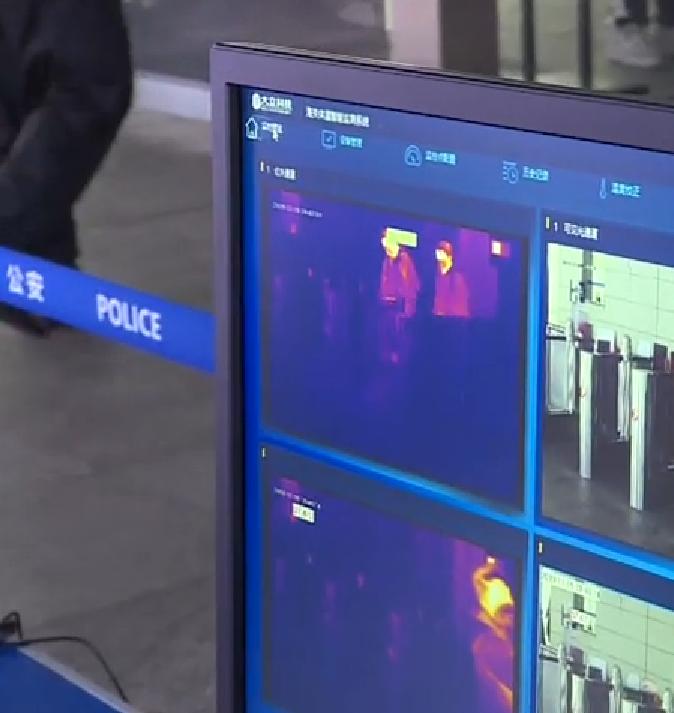 四台红外人体测温热像仪余姚高铁北站和余姚火车站今起投用