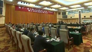 浙江代表和干部群众热烈拥护习近平当选国家主席、中央军委主席