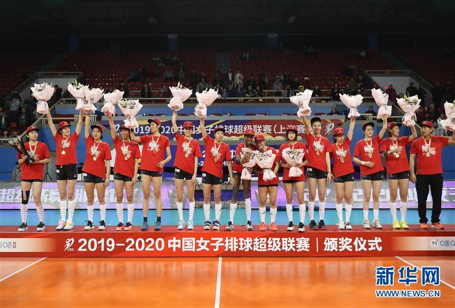 (体育)(1)排球——女排超级联赛:天津渤海队夺冠