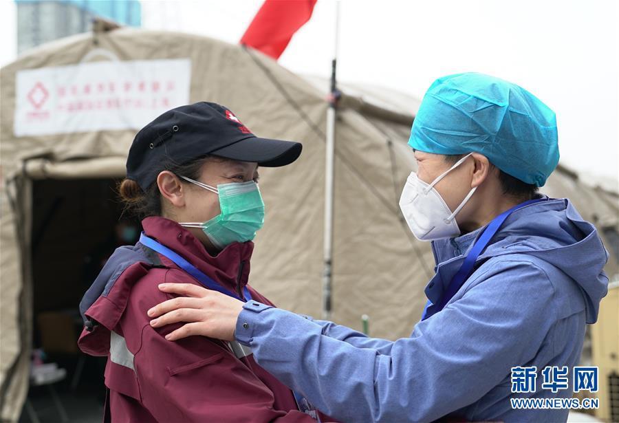 (聚焦疫情防控)(1)武汉客厅方舱医院正式休舱