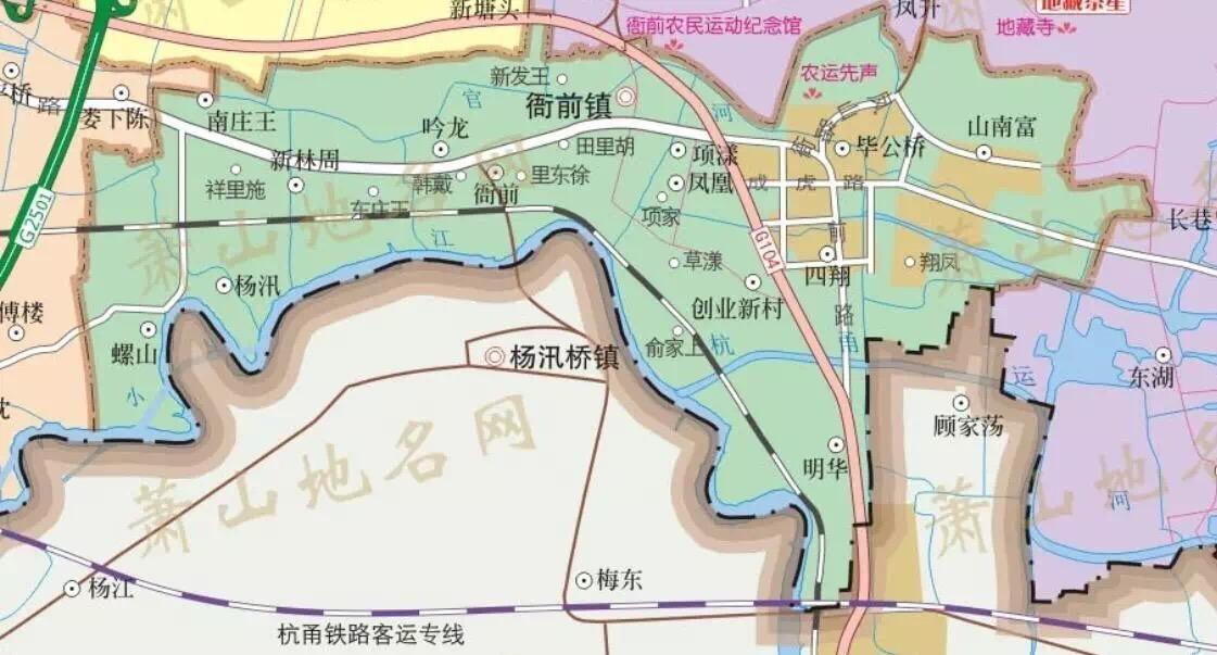 萧山地图高清版