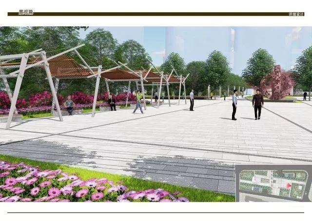 下沉广场区,生态休憩区),管理用房及公共卫生间,地下停车库,景观小品
