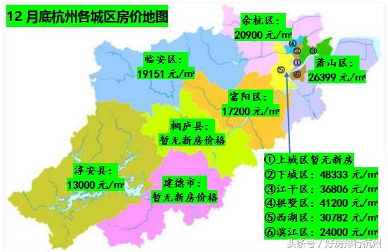 12月杭州房价回落刚需迎置业时机!(附103个在售楼盘全表)