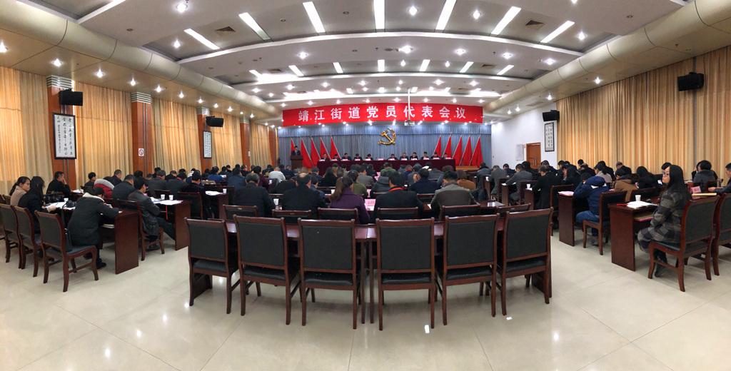 靖江街道召开2017年度党员代表会议