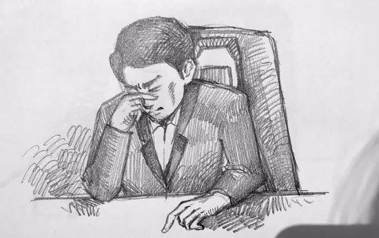 △ 林生斌 庭审现场手绘图