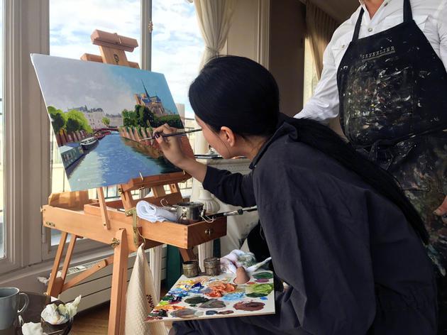 张馨予巴黎学画被黑作秀 回应:不喜欢不看就好了