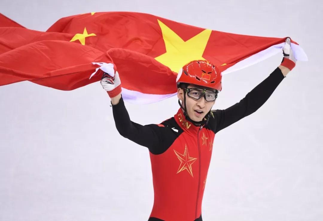 中国队首金!短道速滑男子500米决赛武大靖夺冠