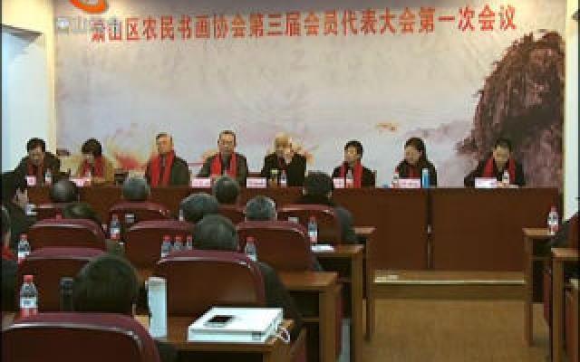 区农民书画协会召开第三届会员代表大会