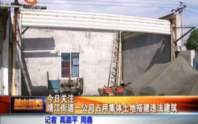 靖江街道一公司占用集體土地搭建違法建筑