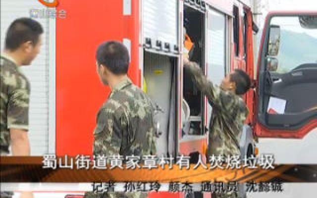 蜀山街道黃家章村有人焚燒垃圾