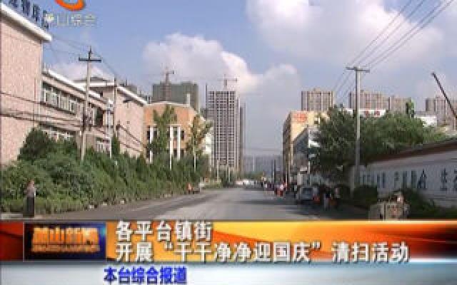 """各平臺鎮街開展""""干干凈凈迎國慶""""清掃活動"""