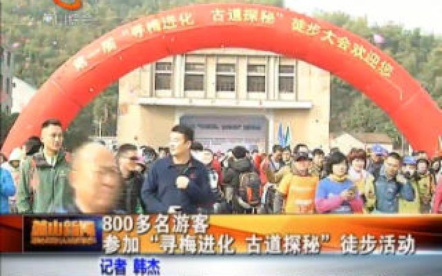"""800多名游客參加""""尋梅進化,古道探秘""""徒步活動"""