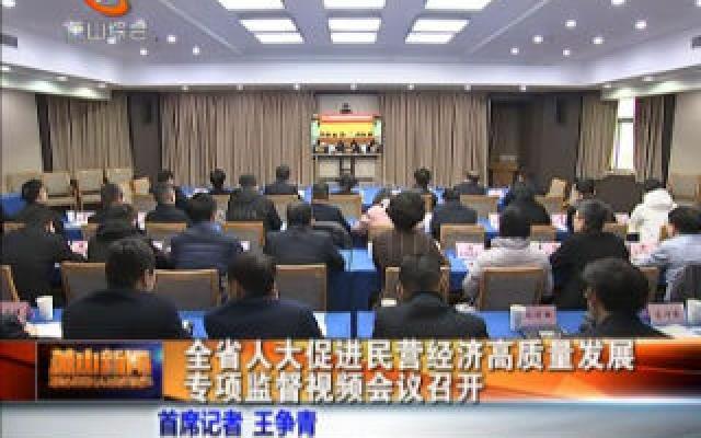 全省人大促進民營經濟高質量發展專項監督視頻會議召開