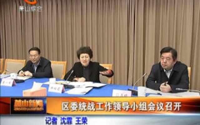 區委統戰工作領導小組會議召開