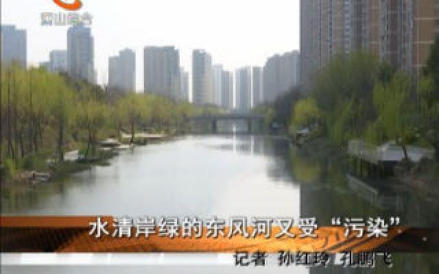 """水清岸綠的東風河又受""""污染"""""""