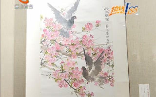 94岁画师举办作品展