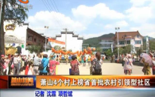 萧山4个村上榜省首批农村引领型社区