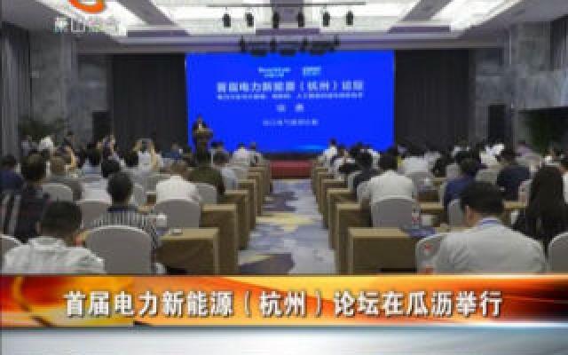 首届电力新能源(杭州)论坛在瓜沥举行