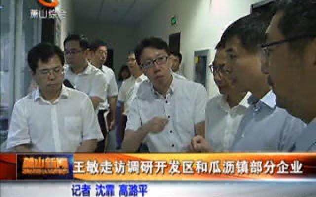 王敏走訪調研開發區和瓜瀝鎮部分企業