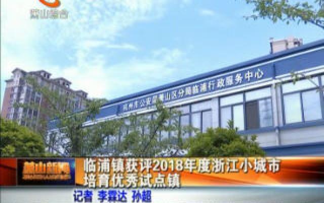 分分彩近5000期的开奖号码,临浦镇获评2018年度浙江小城市培育优秀试点镇