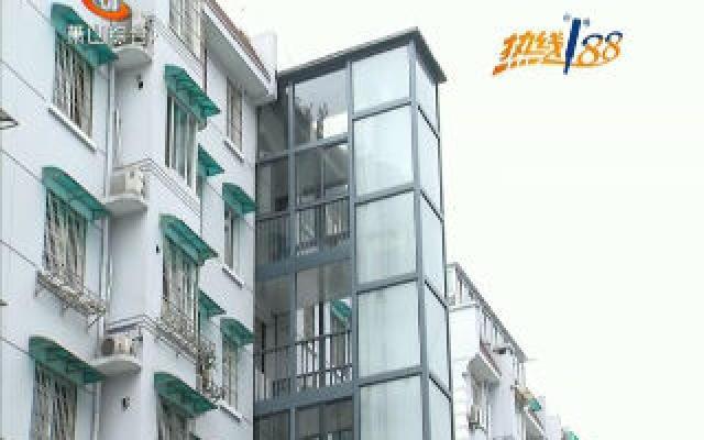 南市花园首台加装电梯投入运行
