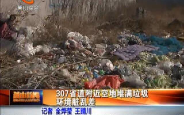 307省道附近空地堆满垃圾 环境脏乱差