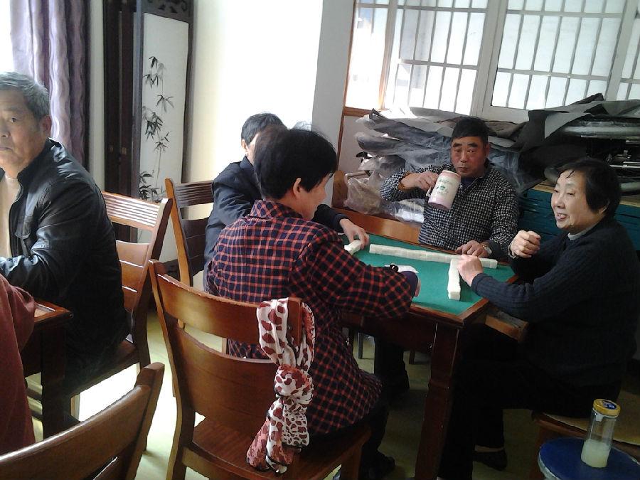 汇宇社区老年活动中心热闹非凡