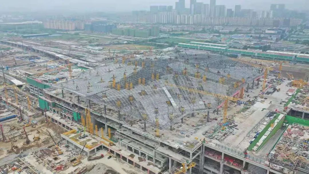 """杭州西站樞紐有新進展!預計全部基坑主體將在本月完工!"""""""